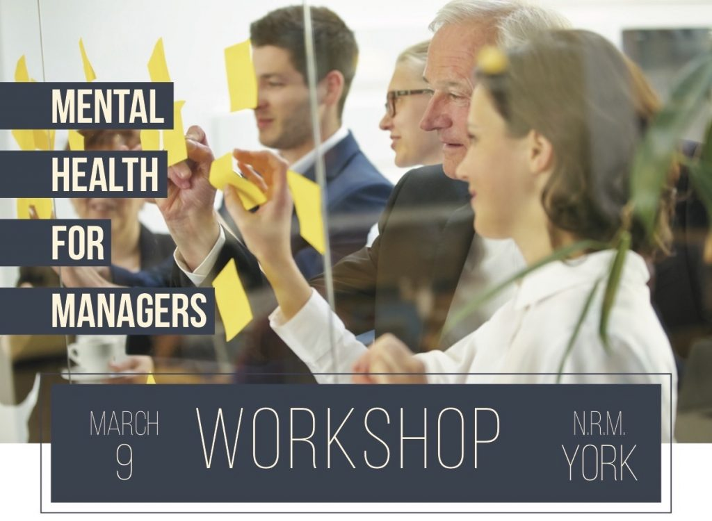 mental health training for managers workshop photo flyer
